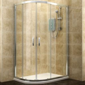 View Cooke & Lewis Deluvio Offset Quadrant Shower Enclosure & Tray RH (W)1200mm (D)800mm details
