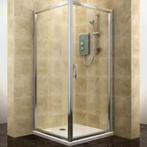 View Cooke & Lewis Deluvio Square Hinged Shower Enclosure And Tray with Hinged Door (W)760mm (D)760mm details