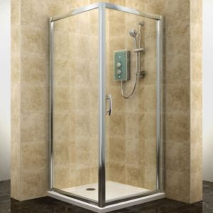 View Cooke & Lewis Deluvio Square Shower Enclosure & Tray (W)900mm (D)900mm details