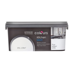 View Colours Kitchen Pure Brilliant White Matt Emulsion Paint 2.5L details