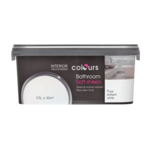 View Colours Bathroom Pure Brilliant White Soft Sheen Emulsion Paint 2.5L details
