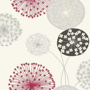 bq lucienne charcoal pink wallpaper. Black Bedroom Furniture Sets. Home Design Ideas