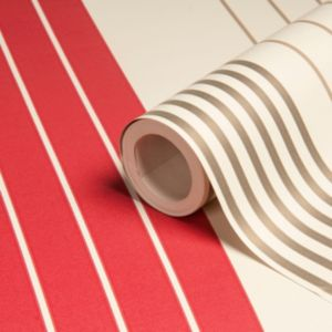 View Rocky Cream & Magenta Stripe Wallpaper details