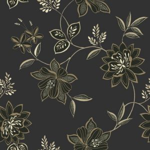 View Lexie Floral Black & Stone Wallpaper details
