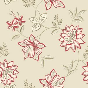 View Lexie Floral Red Wallpaper details