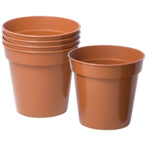 View Plastic Terracotta Plant Pot (Dia)10cm, Pack of 5 details