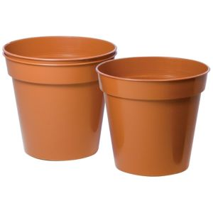 View Plastic Terracotta Plant Pot (Dia)15cm, Pack of 3 details