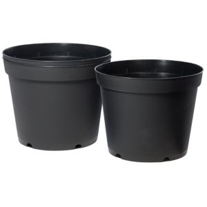 View Plastic Black Plant Pot (Dia)25.7cm, Pack of 3 details
