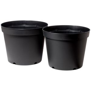 View Verve Black Plant Pot, Pack of 2 details