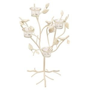 View Cream Heritage Glass & Metal Tealight Candle Holder details