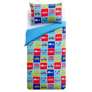 View Colours Transport Multicolour Single Children's Duvet Set details