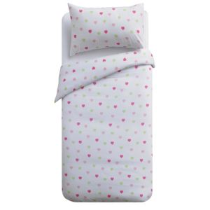 View Colours Multicolour Hearts Single Children's Duvet Set details