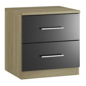 View Form Darwin Black 2 Drawer Chest (H) 536 mm (W) 500 mm details