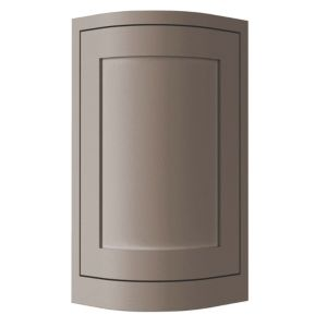 View Cooke & Lewis Carisbrooke Taupe Non-Framed Tall Wall CURVED Door & Filler Panel details