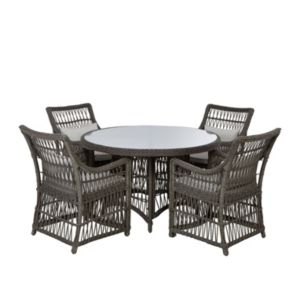 View Caravella Rattan Effect 4 Seater Dining Set details