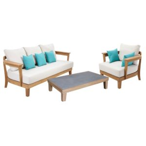 View Roscana Teak Wooden 4 Seater Coffee Set details