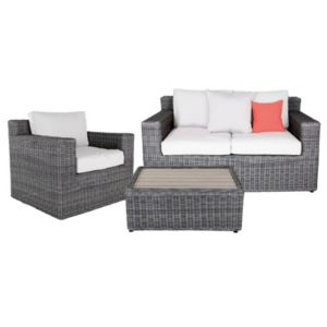 View Praslin Rattan Effect 3 Seater Coffee Set details