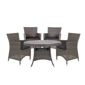 View Comoro Rattan Effect 4 Seater Dining Set details
