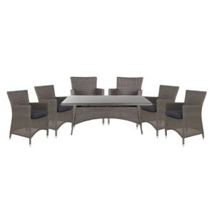 View Comoro Rattan Effect 6 Seater Dining Set details