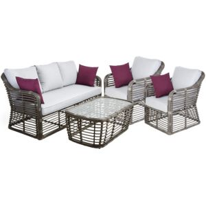 View Brizo Rattan Effect 4 Seater Coffee Set details