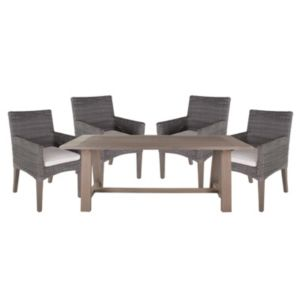 View Praslin Rattan Effect & Wood 4 Seater Dining Set details