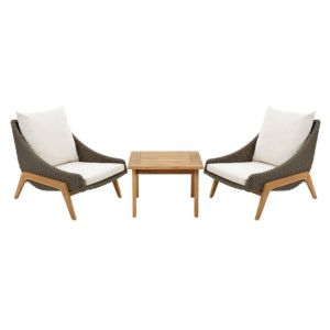 View Retro Rattan Effect 2 Seater Coffee Set details