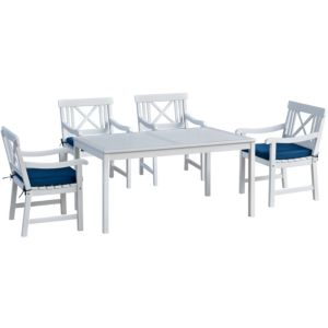 View Canterbury Wooden 4 Seater Dining Set details