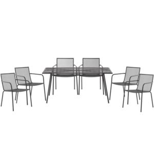View Adelaide Metal 6 Seater Dining Set details