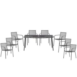 View Adelaide Metal 8 Seater Dining Set details