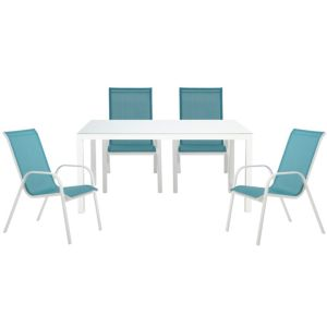 View Janeiro Metal 4 Seater Dining Set details