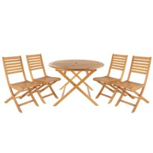 View Aland Wooden 4 Seater Dining Set details