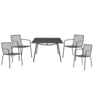 View Adelaide Metal 4 Seater Dining Set details