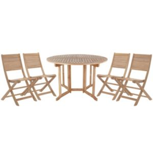 View Roscana Teak Wooden 4 Seater Dining Set details
