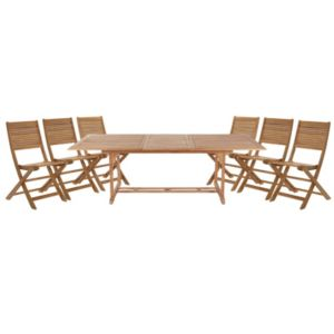 View Roscana Teak Wooden 6 Seater Dining Set details
