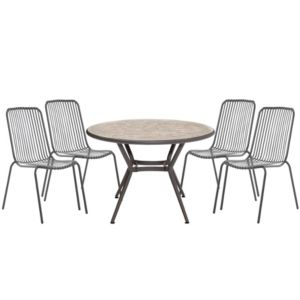 View Silene Metal 4 Seater Bistro Set details