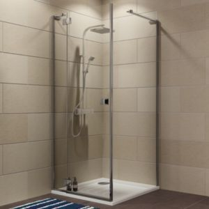 View Cooke & Lewis Luxuriant Square Shower Enclosure with Hinged Door (W)770mm (D)770mm details