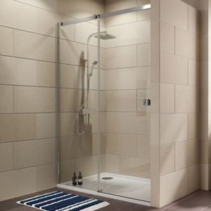 View Cooke & Lewis Luxuriant Single Sliding Shower Door (W)1170mm details