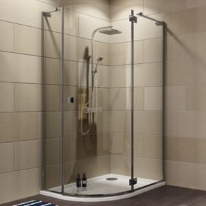 View Cooke & Lewis Luxuriant Offset Quadrant Shower Enclosure with Hinged Door (W)1170mm (D)870mm details
