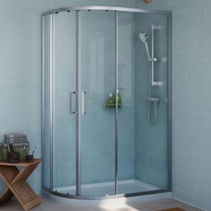Cooke & Lewis Exuberance Offset Quadrant RH Shower Enclosure  Tray & Waste Pack with Double Sliding Doors (W)1200mm (D)8