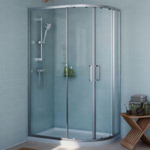 Cooke & Lewis Exuberance Offset Quadrant LH Shower Enclosure  Tray & Waste Pack with Double Sliding Doors (W)1200mm (D)8