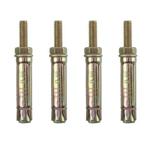 View B&Q Metal Projecting Anchor Bolt, Pack of 4 details