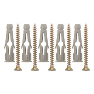 View B&Q 6mm 35mm Wall Plug & Screw, Pack of 50 details