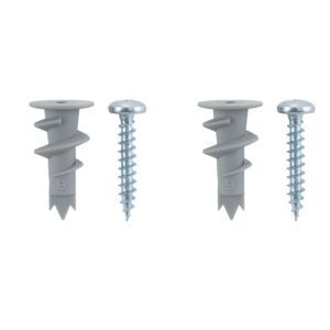View B&Q 25mm Wall Plug & Screw, Pack of 12 details