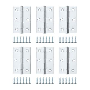 View Chrome Effect Metal Butt Hinge, Pack of 6 details