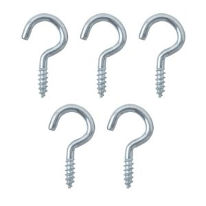View B&Q Zinc Effect Metal Cup Hook, Pack of 10 details