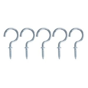 View B&Q Zinc Effect Cup Hook (L)40mm, Pack of 25 details