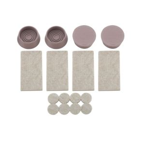 View B&Q Grey Felt & Rubber Self Adhesive Hard Floor Furniture Kit, Set of 1 details