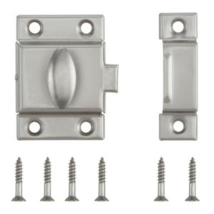 View B&Q Nickel Effect Cupboard Catch details
