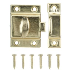 View B&Q Brass Effect Cupboard Catch details