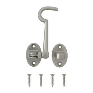 View B&Q Nickel Effect Cabin Hook (L)100mm details